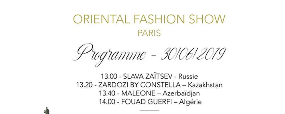LUXURY TRADITION AND EXPERTISE: ORIENTAL FASHION SHOW – PARIS – 2019